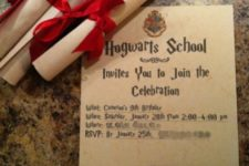 03 make invitations as letters from Hogwarts to excite all the kids