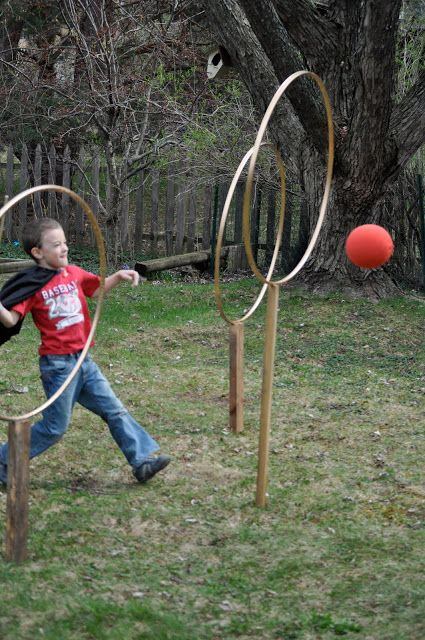 let your kids feel like playing quidditch in Harry Potter placing rings in the backyard