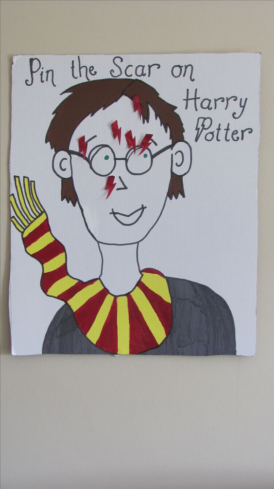 pin the scar on Harry Potter is an easy and fun game the kids can try
