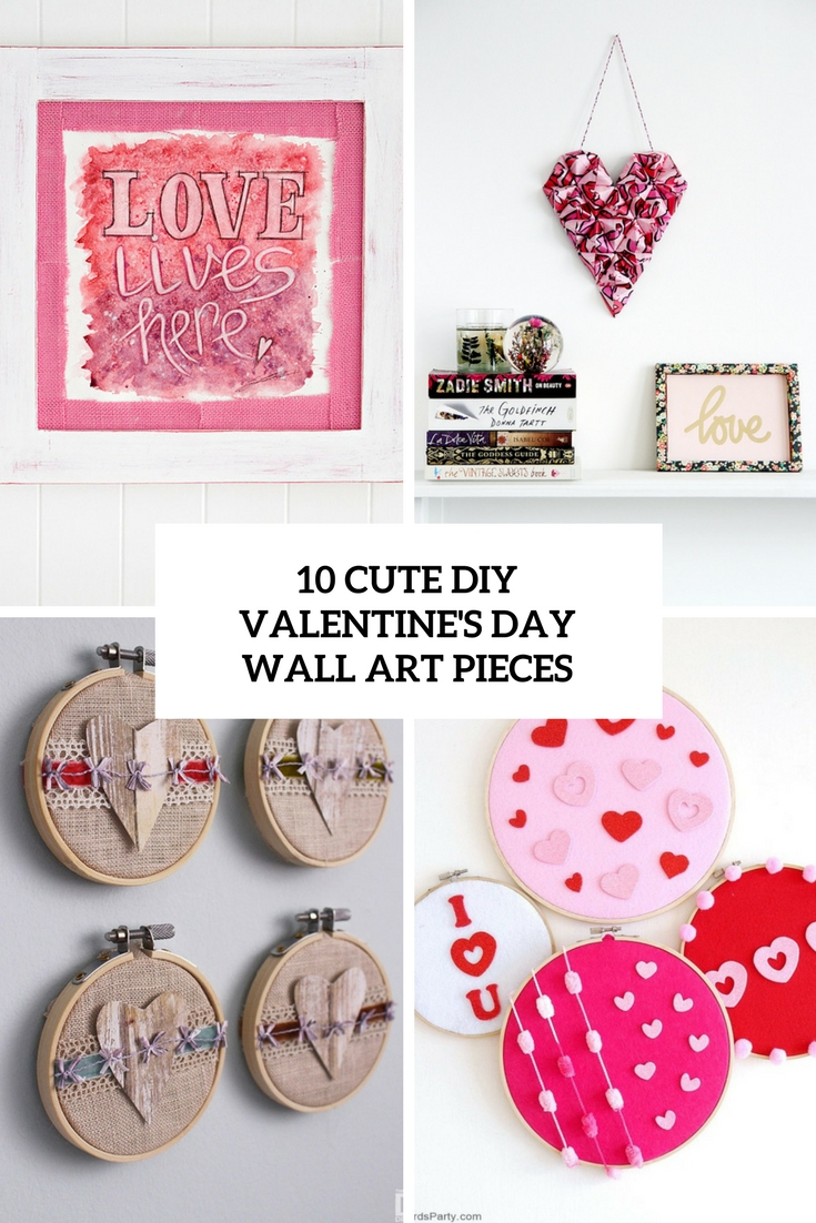 cute diy valentine's day wall art pieces cover