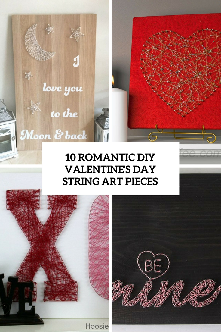 romantic diy valentine's day string art pieces cover