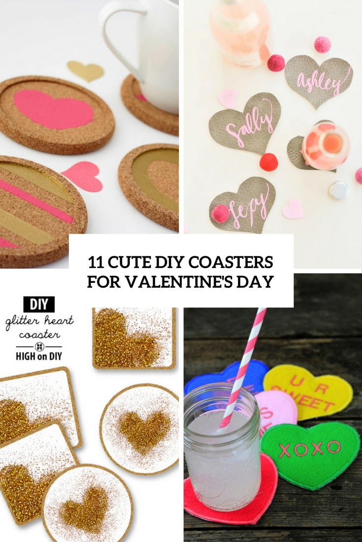 11 Cute DIY Coasters For Valentine's Day