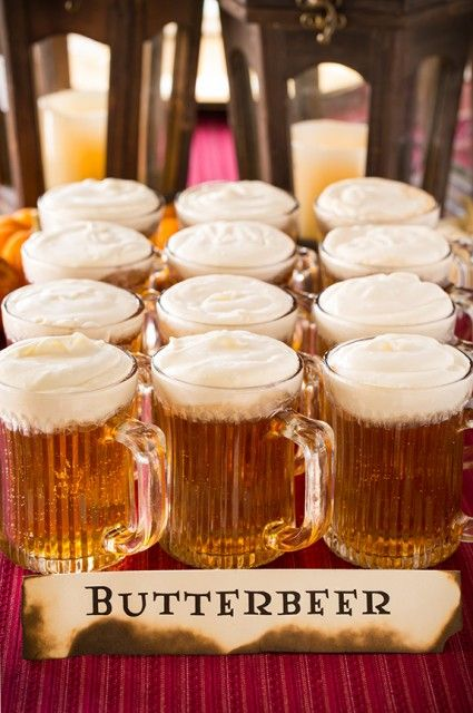 butterbeer like in the book can be made of juice and cream