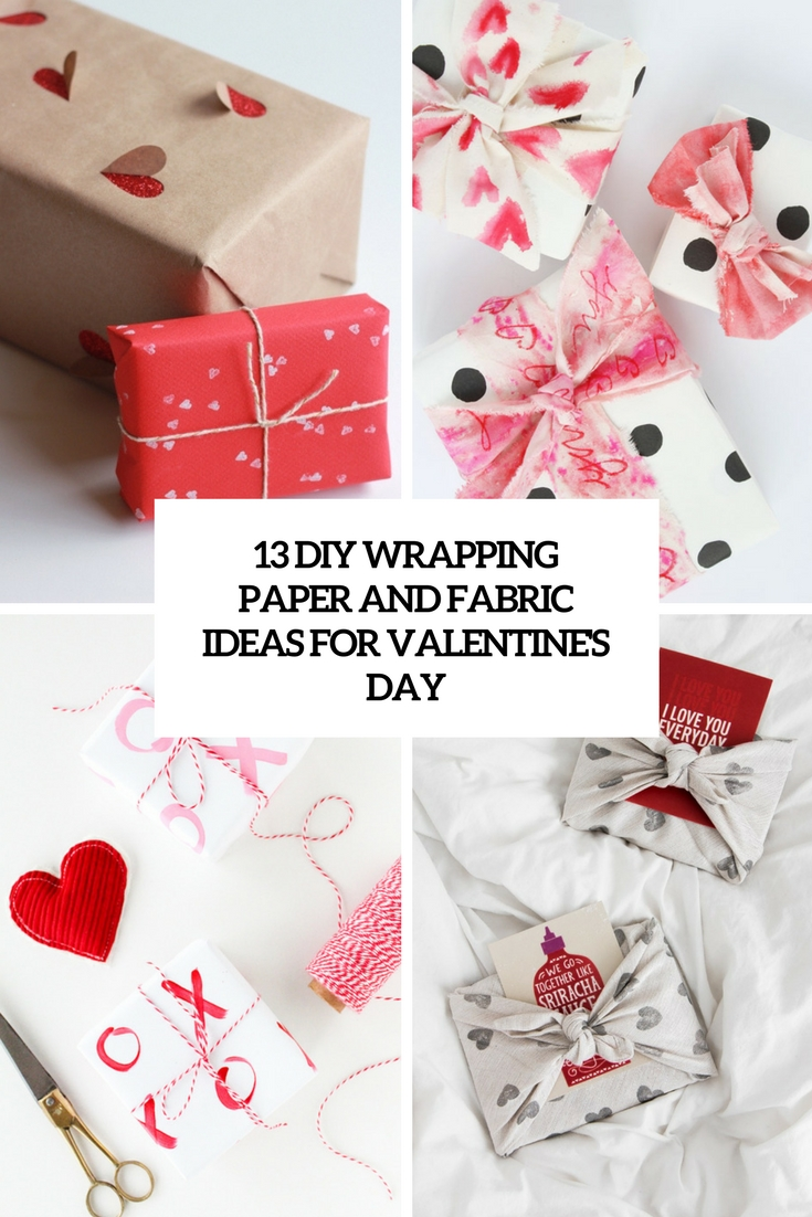 diy wrapping paper and fabric ideas for valentine's day cover