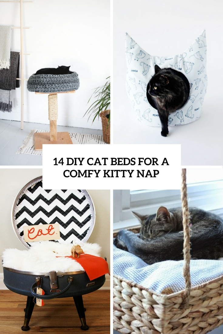 14 DIY Cat Beds For A Comfy Kitty Nap
