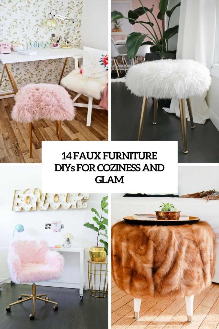 faux fur furniture diys for coziness and glam cover