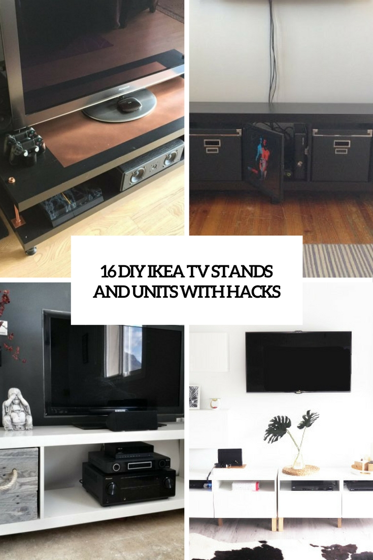 diy ikea tv stands and units with hacks cover