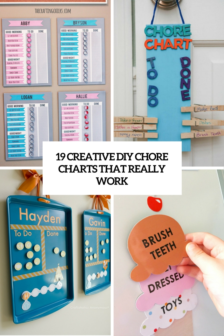 creative diy chore charts that really work cover