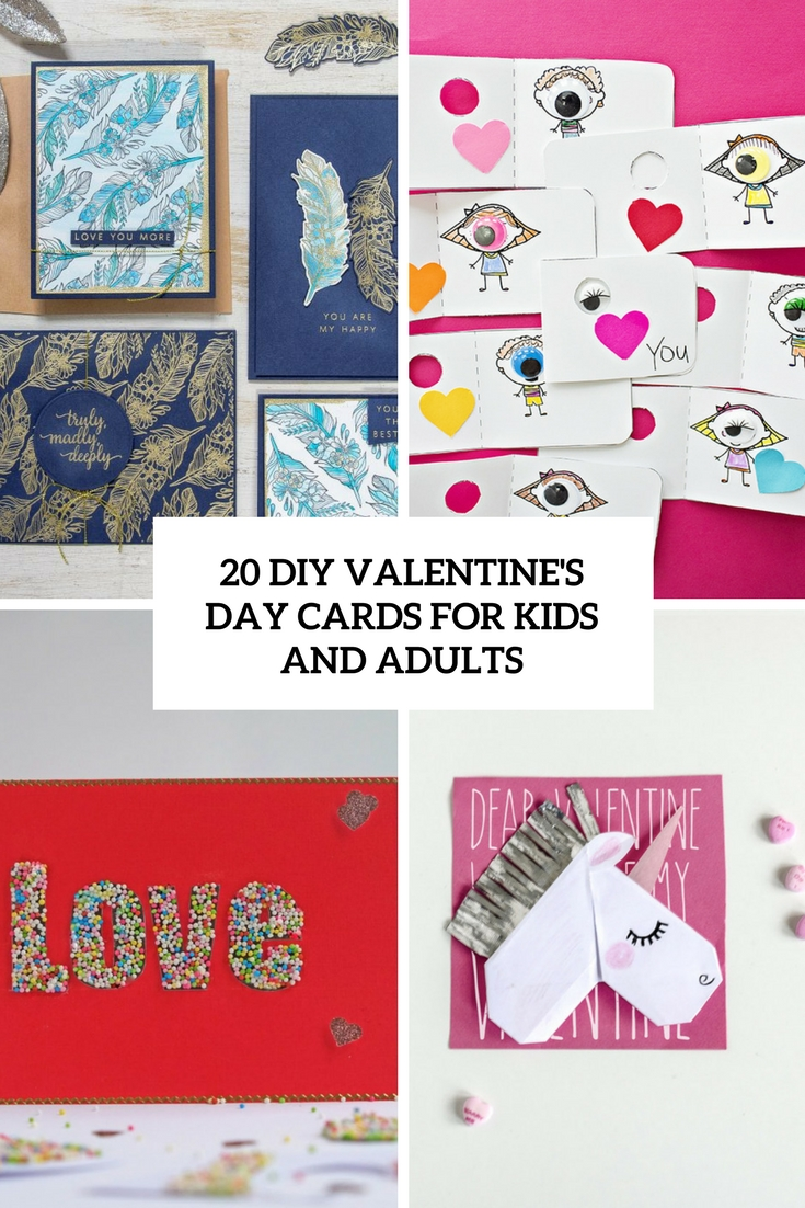 diy valentine's day cards for kids and adults cover