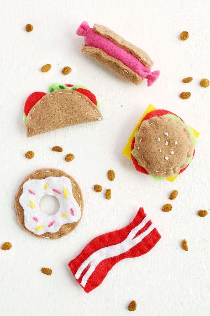 DIY fast food catnip toys