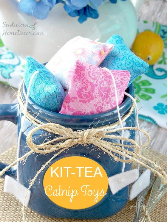 DIY kit tea catnip toys