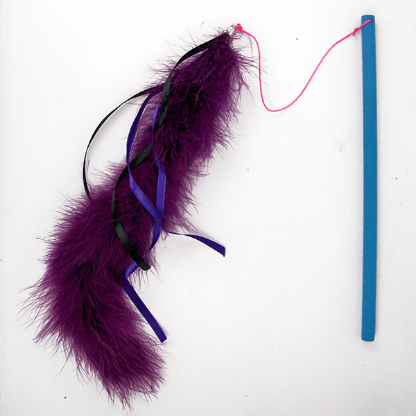 DIY feather cat fascinator