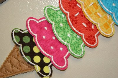 DIY embroidered ice cream cone chore chart (via childmadetutorials.blogspot.ru)