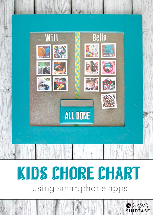 DIY kids photo chore chart (via www.sisterssuitcaseblog.com)