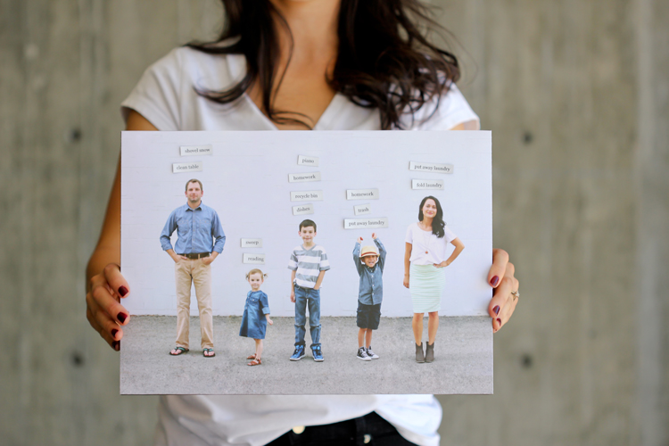 DIY photo family chore chart (via www.deliacreates.com)