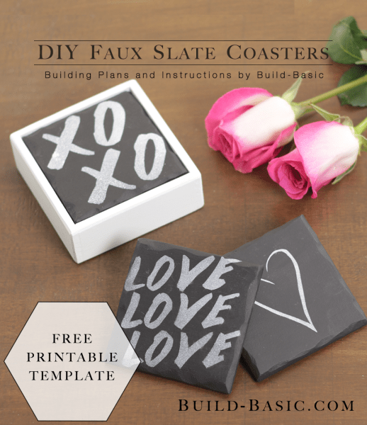 DIY faux slate coasters