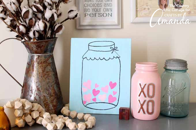 DIY mason jar heart wall art (via craftsbyamanda.com)