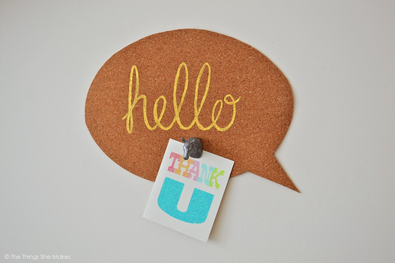 DIY speech bubble noticeboard