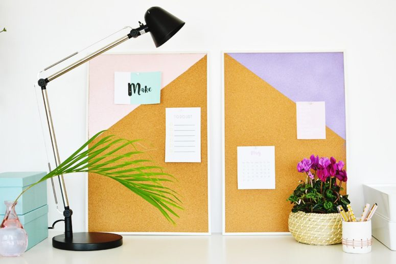 DIY geometric pinboards (via enthrallinggumption.com)