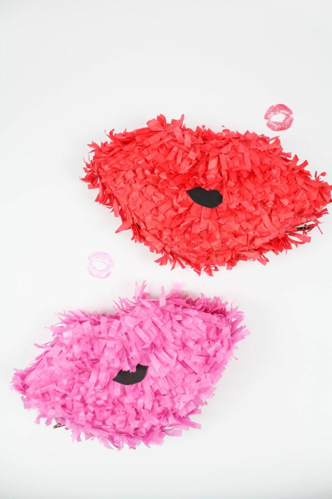 DIY Valentine lip pinata (via www.letsmingleblog.com)
