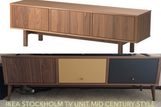DIY IKEA Stockholm TV unit hack (via www.ikeahackers.net)