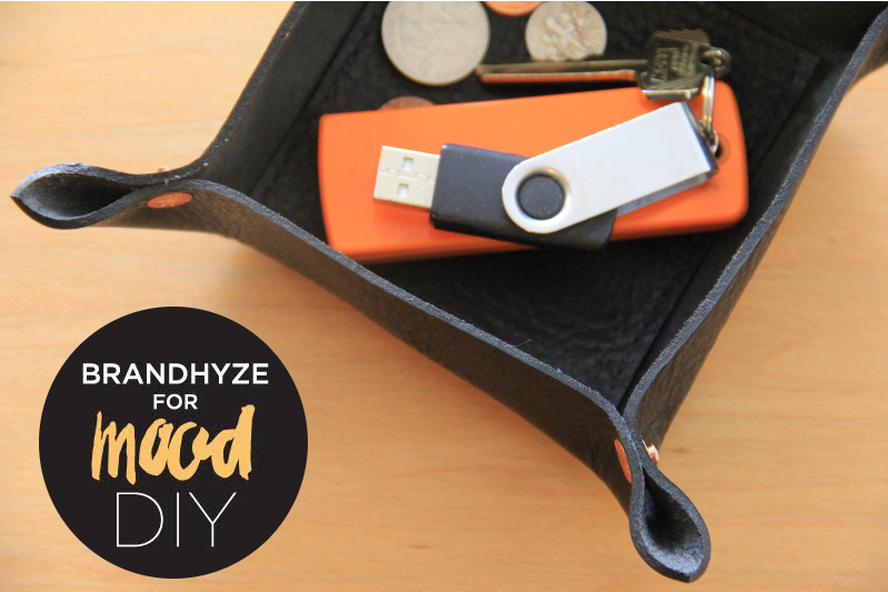 DIY black and copper valet tray