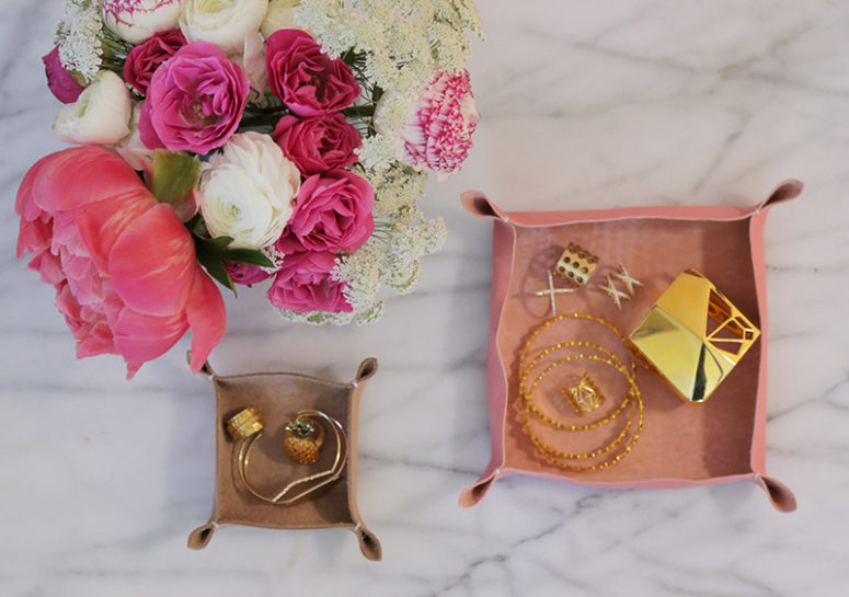 DIY girlish leather tray (via louiseroe.com)