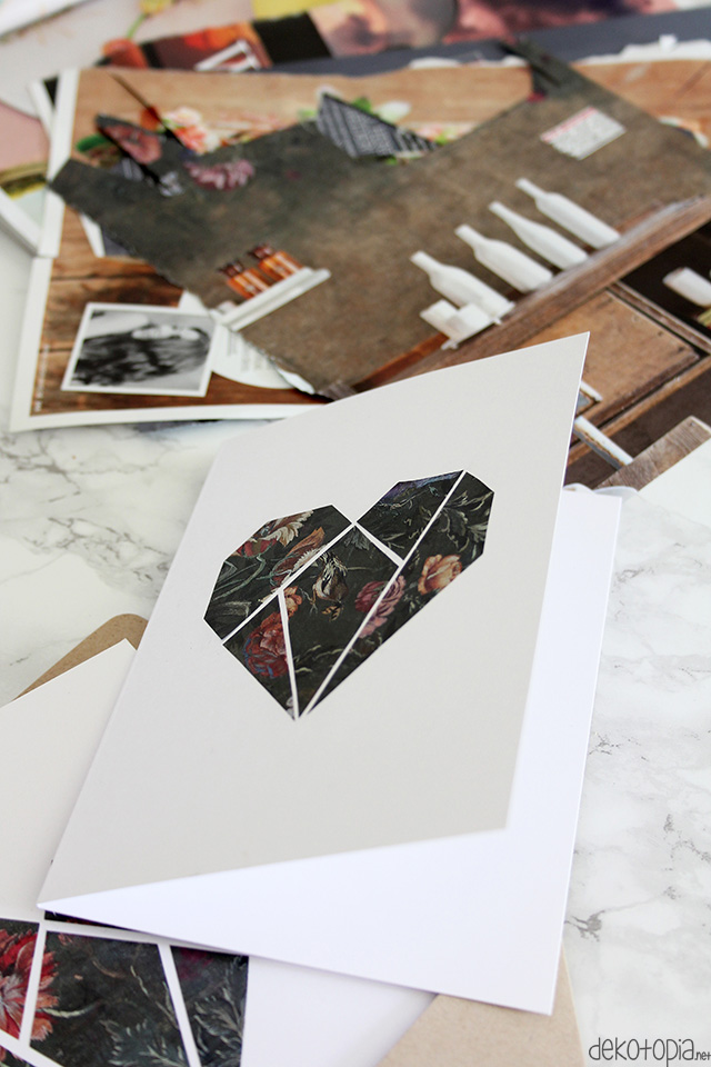 DIY geometric moody floral heart cards (via www.dekotopia.net)