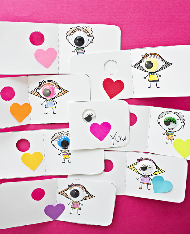 DIY eye Valentine's Day cards (via www.hellowonderful.co)