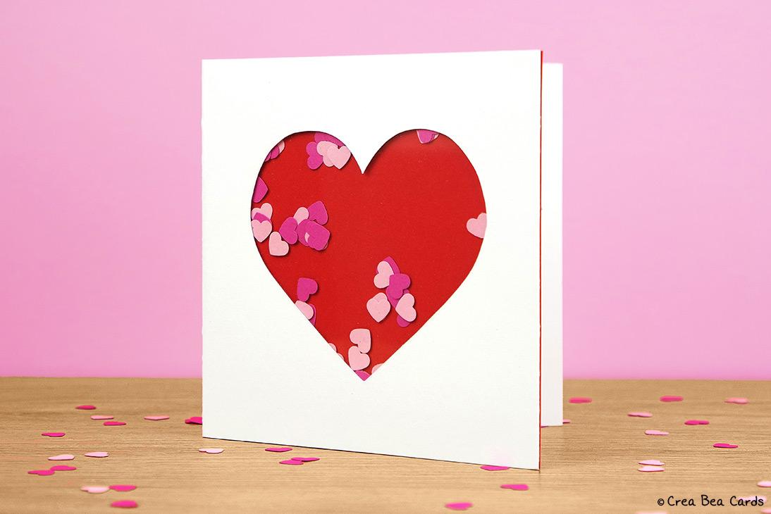 DIY heart shaker card