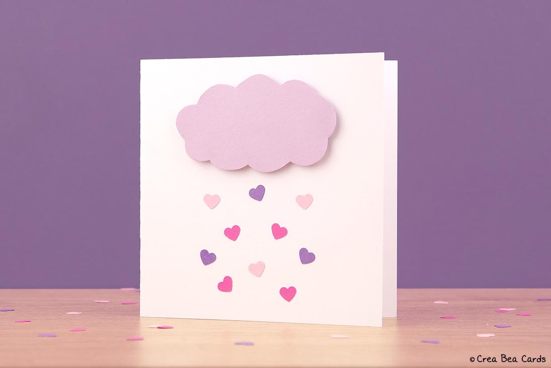 DIY heart rain clous card