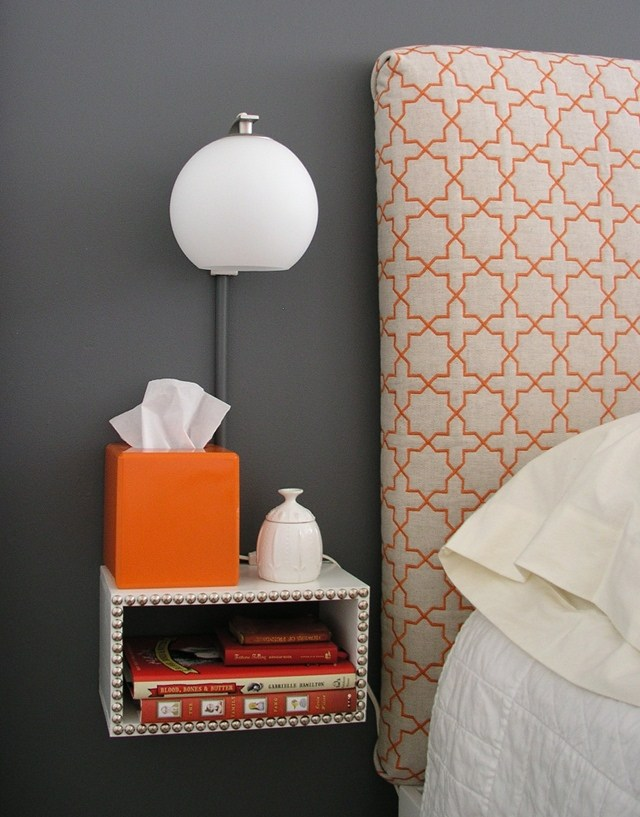 DIY box-shaped floating nightstand (via www.brettbara.com)