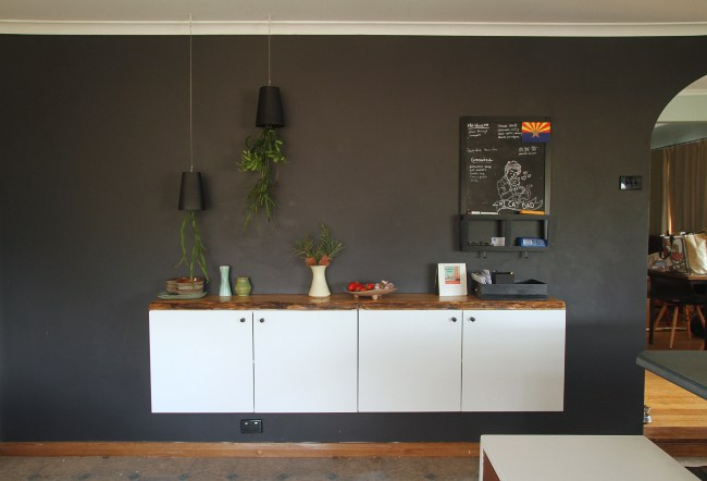 DIY floating buffet of IKEA Metod cabinet
