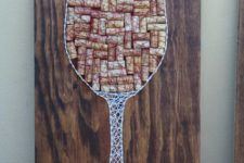 08 a cool wine glass string art sign with wine corks and strings