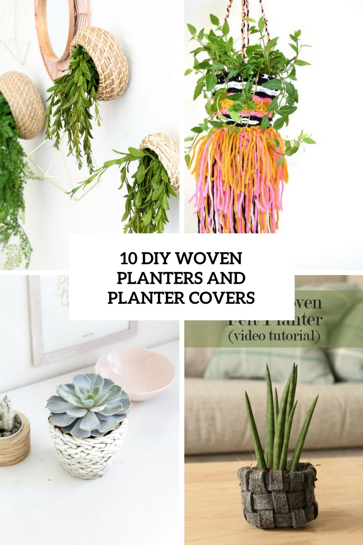 Diy Woven Planters And Planter Covers Cover
