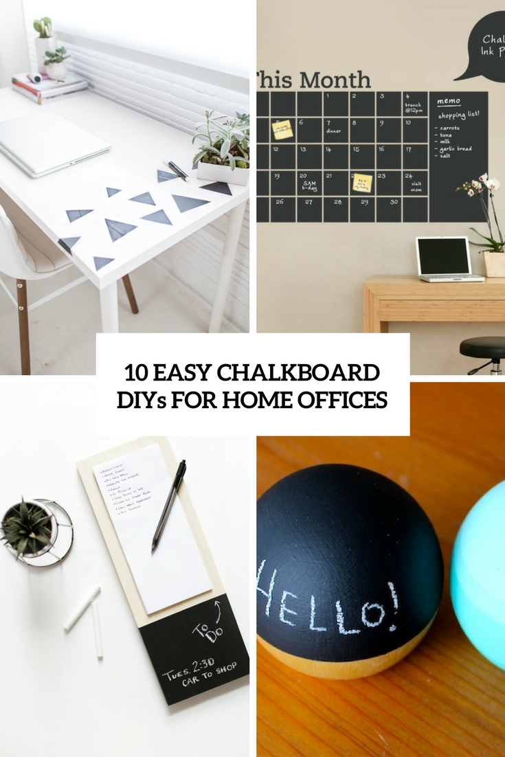 chalkboard office. Easy Chalkboard Diys For Home Offices Cover Office