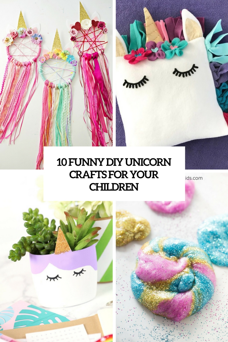 funny diy unicorn crafts for your children cover