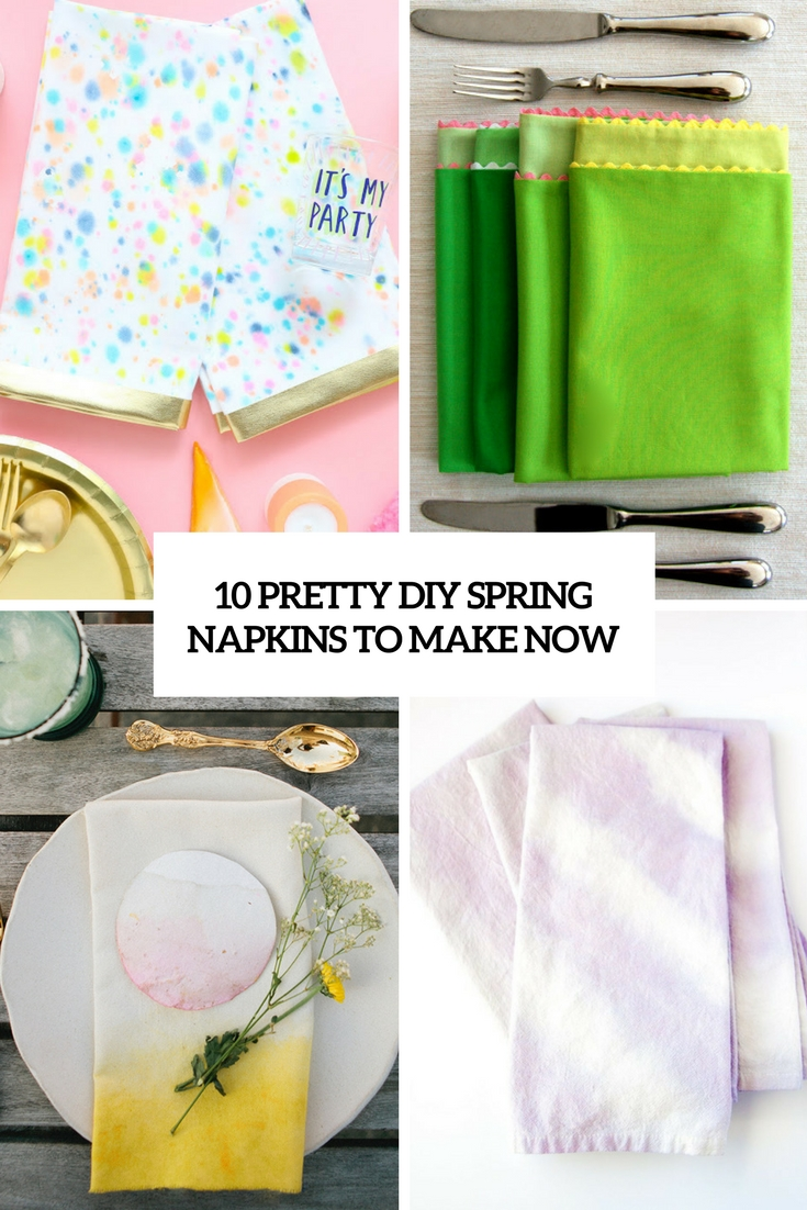 pretty diy spring napkins to make now cover