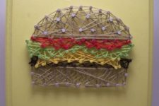 11 a fun burget string art is a great idea for fast food fans