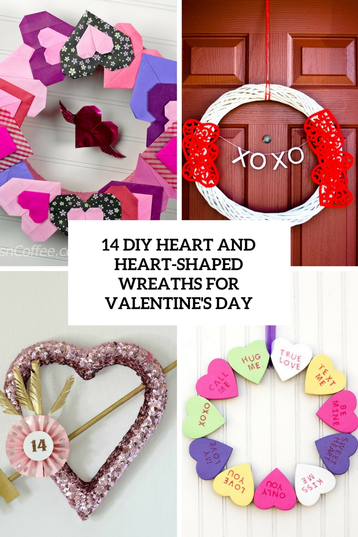 diy heart and heart shaped wreaths for valentine's day cover