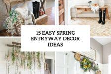 15 easy spring entryway decor ideas cover