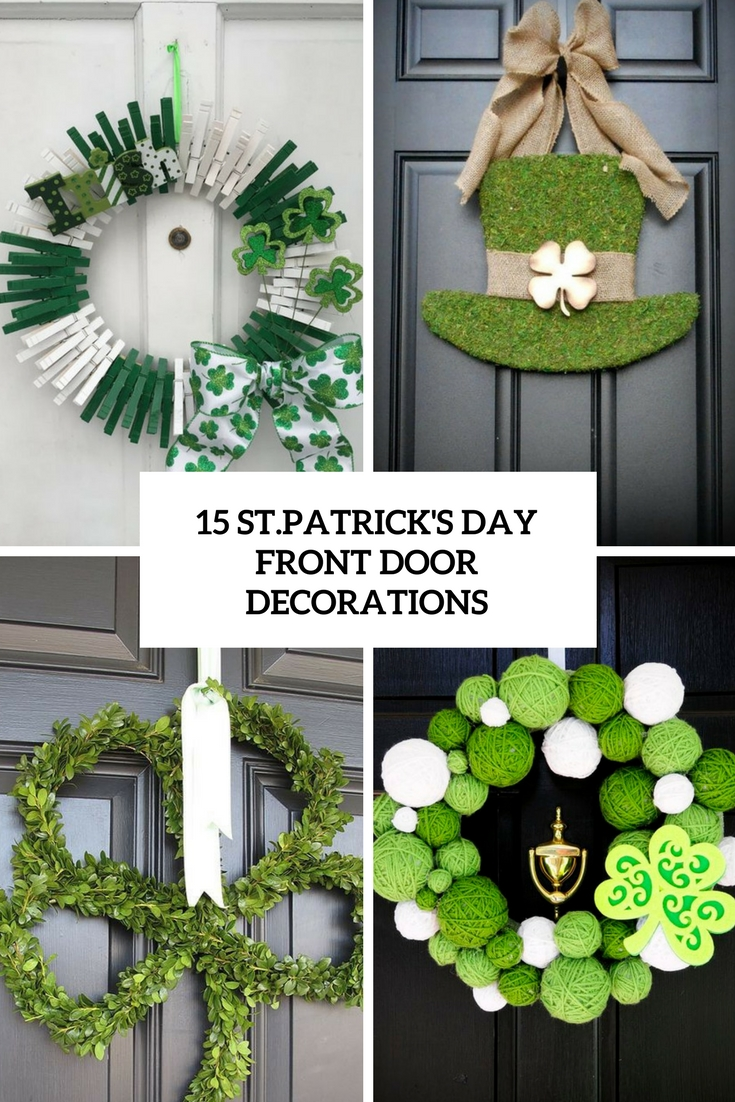 st.patrick's day door decorations cover