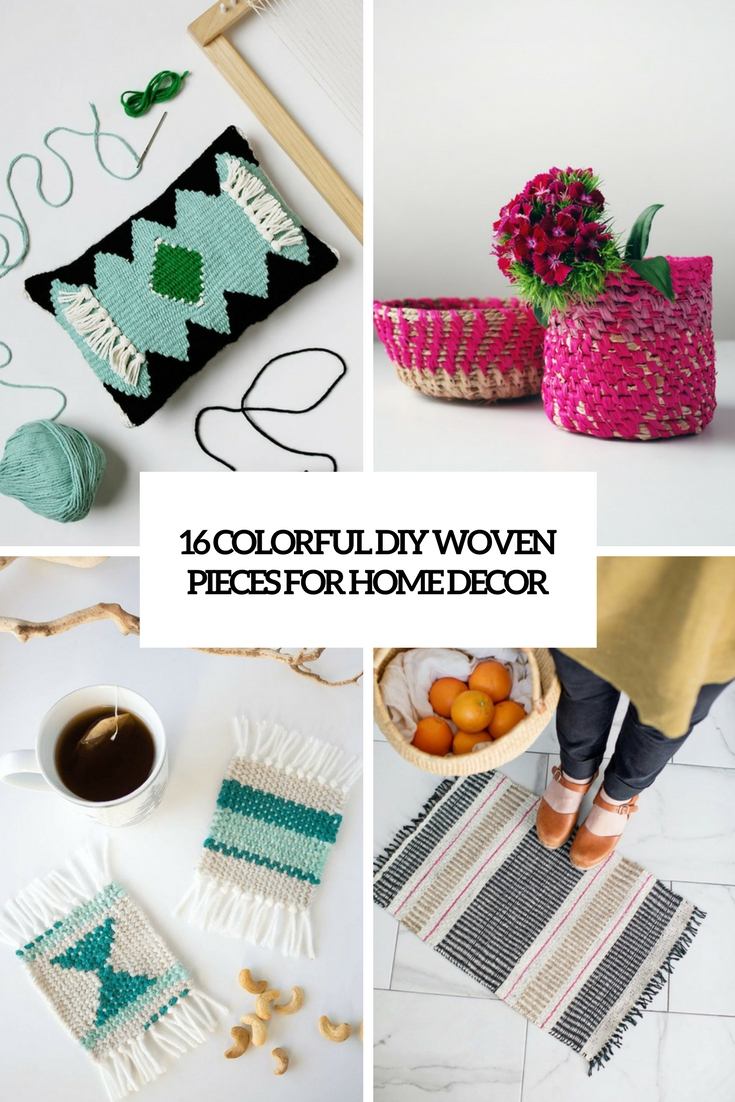 16 Colorful DIY Woven Pieces For Home Decor