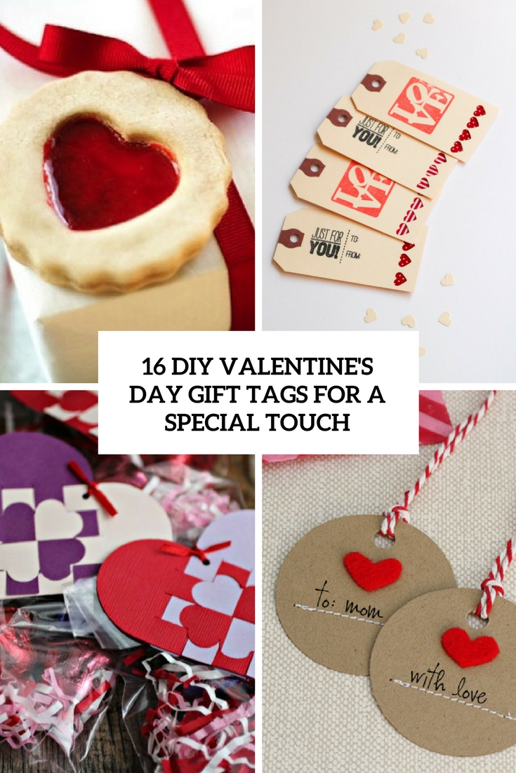 16 DIY Valentine's Day Gift Tags For A Special Touch