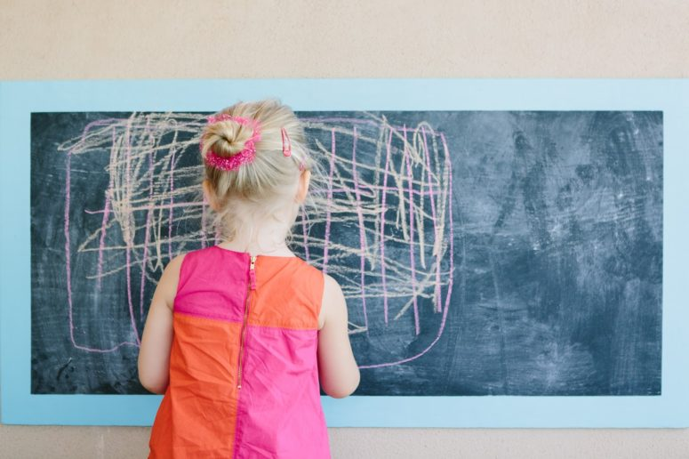 DIY framed chalkboard for kids (via www.designimprovised.com)