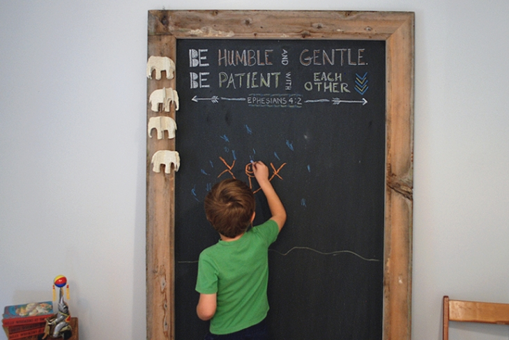 DIY giant chalkboard (via themerrythought.com)