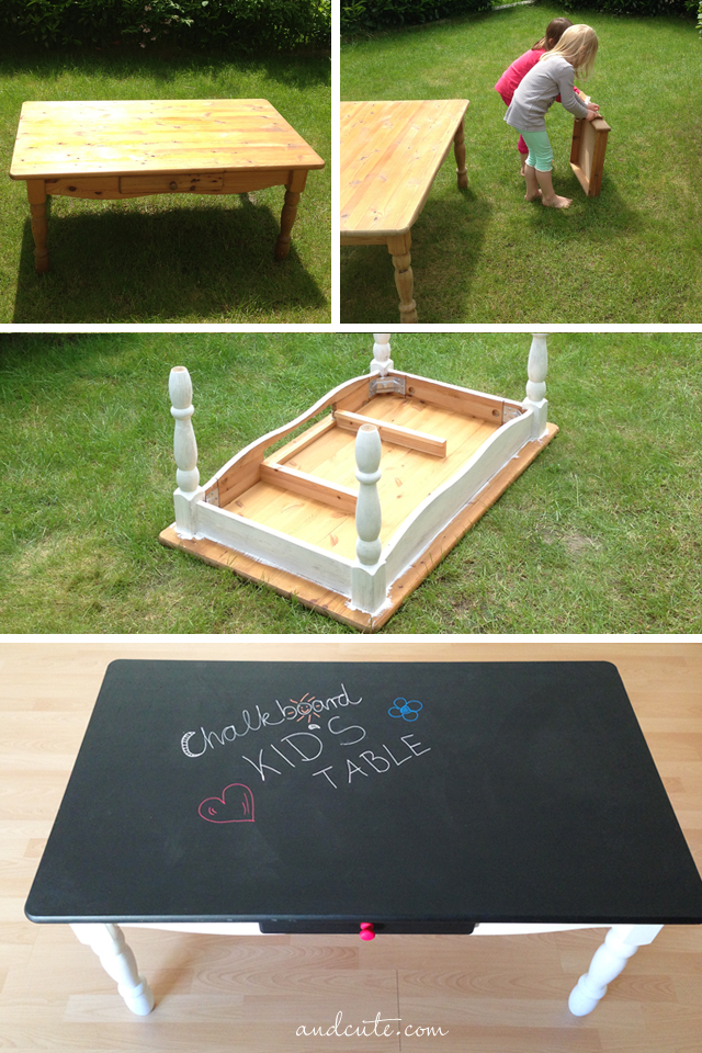 DIY chalkboard kids' table (via andcute.com)