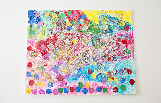DIY confetti glitter artwork for kids (via www.hellowonderful.co)