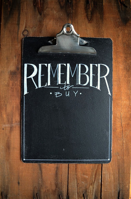 DIY chalkboard clipboard for notes (via www.andersonandgrant.com)