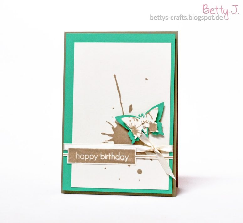 DIY turquoise butterfly with a 3D effect (via bettys-crafts.blogspot.ru)
